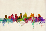 Columbus Ohio Skyline Posters by Michael Tompsett