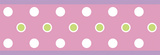 Dot Peel & Stick Border Wall Decal - Pink Wall Decal