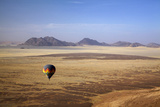 Aerial View of Hot Air Balloon over Namib Desert, Sesriem, Namibia Photographic Print by David Wall