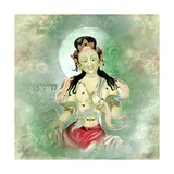 Green Tara Prints by Christine Ganz