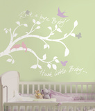 Rock-a-bye Bird Branch Peel & Stick Giant Wall Decal Wall Decal