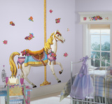 Carousel Horse Peel & Stick Giant Wall Decal Wall Decal