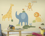 Sapna Zoo Animals Peel & Stick Wall Decal MegaPack Wall Decal