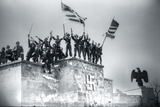 American Soldiers on Nazi Rally Grounds, Nuremberg, Germany Photographic Print by Jim Engelbrecht