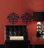 Damask (Black) Peel & Stick Wall Decal Wall Decal