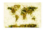 World Map Paint Splashes Photographic Print by Michael Tompsett