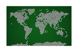 Football Soccer Balls World Map Photographic Print by Michael Tompsett