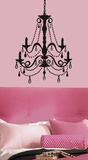 Chandelier w/Gems Peel & Stick Giant Wall Decal Wall Decal