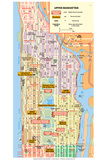 Michelin Official Upper Manhattan NYC Map Poster Posters