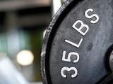 Close-Up of Gym Weightlifting Equipment Impressão fotográfica por Matt Freedman