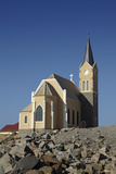 Felsenkirche (Rock Church), Diamond Hill, Luderitz, Southern Namibia Photographic Print by David Wall
