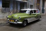 1950's Era Antique Car and Street Scene from Old Havana, Havana, Cuba Photographic Print by Adam Jones