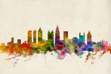 Atlanta Georgia Skyline Prints by Michael Tompsett