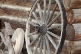 Old Wagon Wheel, Fort Steele, British Columbia, Canada Photographic Print by  Jaynes Gallery