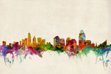 Cincinnati Ohio Skyline Posters by Michael Tompsett