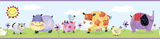 Polka Dot Piggy Peel & Stick Border Wall Decal Wall Decal