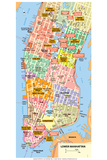 Michelin Official Lower Manhattan NYC Map Plastic Sign Plastic Sign