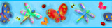 Jelly Bugs Peel & Stick Border Wall Decal Wall Decal