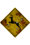 Deer Crossing Hunting Sign Poster Poster