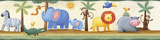 Jungle Adventure Peel & Stick Border Wall Decal Wall Decal