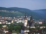 View of the City, Bingen Am Rhein, Rheinland-Pfalz, Germany Photographic Print by Walter Bibikow