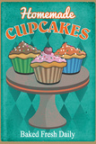 Fresh Cupcakes Plastic Sign Wall Sign