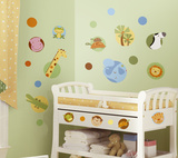 Jungle Animal Polka Dot Peel & Stick Wall Decal Wall Decal