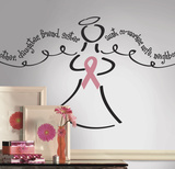 Breast Cancer Angel Peel & Stick Giant Wall Decal Wall Decal