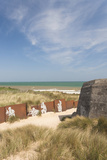 Ruins of German Bunkers, Courseulles Sur Mer, Normandy, France Photographic Print by Walter Bibikow