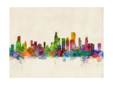 Chicago City Skyline Prints by Michael Tompsett