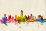Austin Texas Skyline Prints by Michael Tompsett