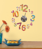 Colorful Clock Wall Clock Decal Wall Decal