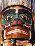 Totem Pole Detail, Duncan, Vancouver Island, BC, Canada Fotodruck von Walter Bibikow