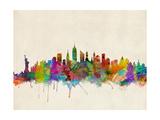 New York City Skyline Fotografie-Druck von Michael Tompsett