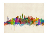 New York City Skyline Prints by Michael Tompsett