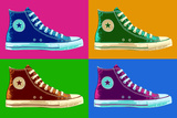 All Star Sneakers Pop Art Poster Posters
