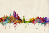 New York Skyline Prints by Michael Tompsett