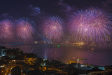 Fireworks Display over the Bosphorus, Istanbul, Turkey Photographic Print by Ali Kabas
