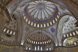 Tile Work in the Blue Mosque, Istanbul Old City, Turkey Photographic Print by Darrell Gulin