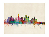 Los Angeles City Skyline Photographic Print by Michael Tompsett