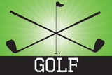 Golf Green Sports Plastic Sign Plastic Sign