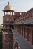 Two Pigeons Sit on the Roof's Ledge, Agra Fort, India Photographic Print by Brent Bergherm