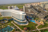 Hotels in Lara Beach, Aerial, Antalya, Turkey Photographic Print by Ali Kabas