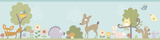 Woodland Animals Peel & Stick Border Wall Decal Wall Decal