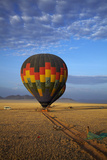 Aerial View of Hot Air Balloons over Namib Desert, Sesriem, Namibia Photographic Print by David Wall