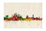Tampa Florida Skyline Photographic Print by Michael Tompsett