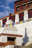 Prayer Flags and a Chorten at Thiksey Monastery, Leh, Ladakh, India Photographic Print by Ellen Clark