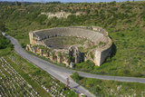 Aerial View of the Amphitheater, Perge, Antalya, Turkey Photographic Print by Ali Kabas