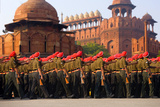 Indian Army Soldiers March in Formation, New Delhi, India Photographic Print by  Jaynes Gallery