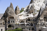 Hotel and Rock Formations, Goreme Town, Cappadocia, Turkey Photographic Print by Matt Freedman
